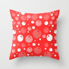 Bubblemagic - Red Throw Pillow