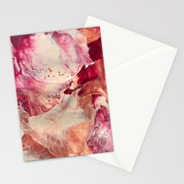 The Madness In Love Fluid Art 2 Stationery Cards