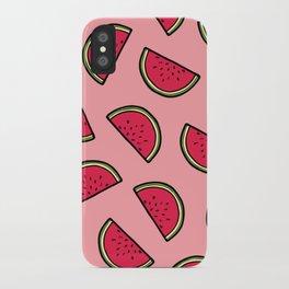Watermelon Pattern in Pink iPhone Case