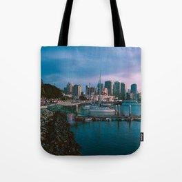 Moody sunset by Downtown San Diego Tote Bag