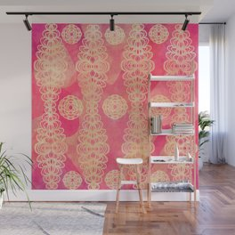 Hot Pink Lace Wall Mural