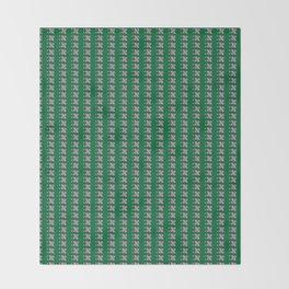 pinkgreen check Throw Blanket