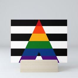 Solid LGBT Ally Pride Flag Mini Art Print