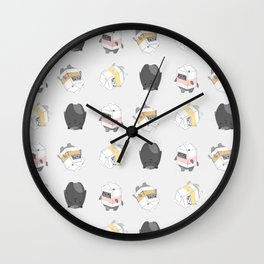 Milk Cats Wall Clock