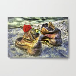 Shoes On The Danube Van Gogh Metal Print
