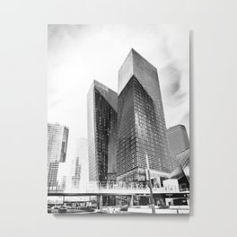 twin buildings at Las Vegas, USA in black and white Metal Print