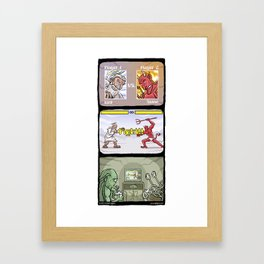 Fight!! Framed Art Print