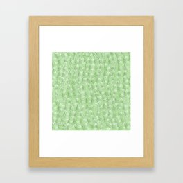 Elegant abstract neo mint feathers polka dots glitter pattern Framed Art Print