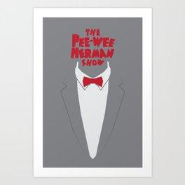 Pee Wee Herman Art Print