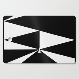 Triangles in Black and White Cutting Board