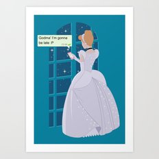 Cinderella - At home before midnight Art Print