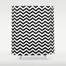 black white chevron shower curtain.  Chevron Shower Curtains Society6