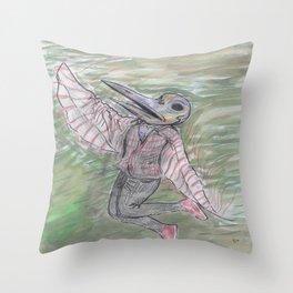 blackdeath birdman Throw Pillow