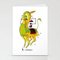 lama Stationery Cards featuring Lama by ART OF SOOL