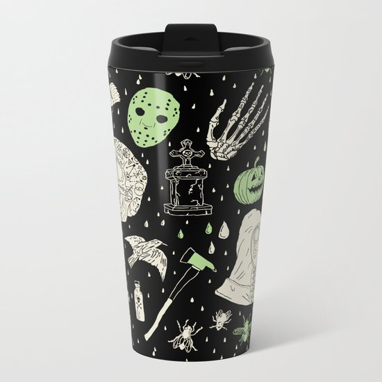 Whole Lot More Horror: BLK Ed. Metal Travel Mug