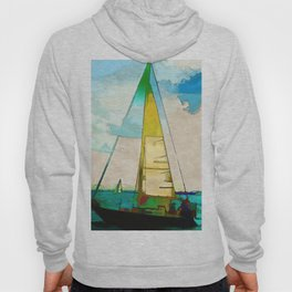Night Sailing  -  Sailboats Hoody
