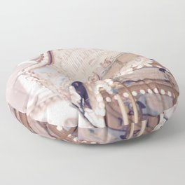 Classic Paris French Carousel Floor Pillow