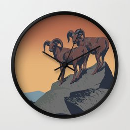 National Parks Preserve Wildlife Wall Clock