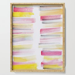 10   | 181101 Watercolour Palette Abstract Art | Lines | Stripes | Serving Tray