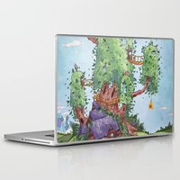 finn and jake Laptop & iPad Skins featuring Ode to Finn and Jake by Taylor Rose