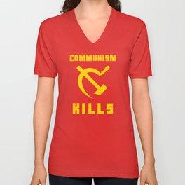 Communism Kills Unisex V-Neck
