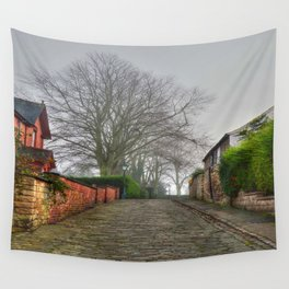 Cobbled Street, Lincoln. Wall Tapestry