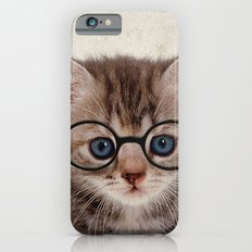 Kitten with Glasses iPhone 6s Slim Case