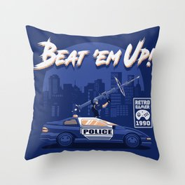 Beat 'em Up! Throw Pillow