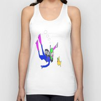 yellow submarine Tank Tops featuring underneath the yellow submarine by Davey Charles