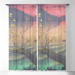 Hailing the Day's End at Towa Sheer Curtain