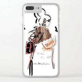 Fur Girl #1 Clear iPhone Case