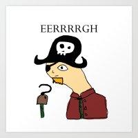 Stad Pirate Art Print