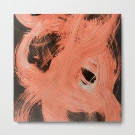 Fuzzy, Abstract, Orange Flamengo Metal Print