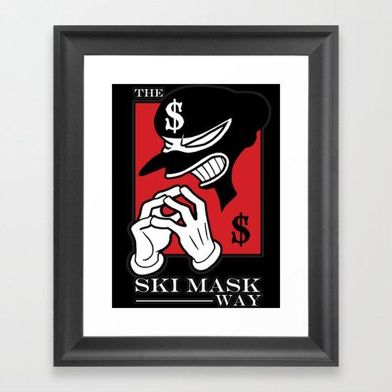 The Ski Mask Way Framed Art Print