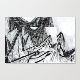 Double Drapery Drawing Canvas Print