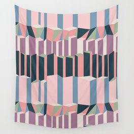 Straight Geometry City 1 Wall Tapestry