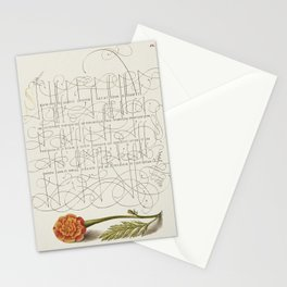 French Marigold from Mira Calligraphiae Monumenta or The Model Book of Calligraphy (1561-1596) by Ge Stationery Cards