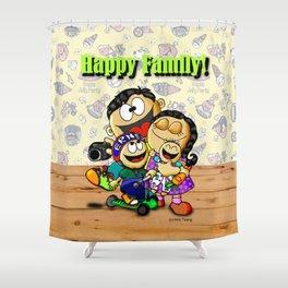 Happy Family! Shower Curtain