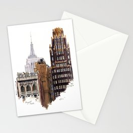 Empire State and Radiator Buildings Stationery Cards