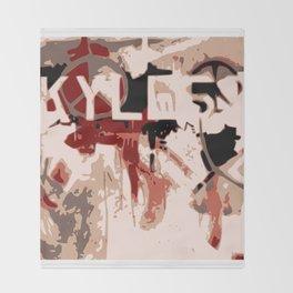 Kyle Graffiti Throw Blanket