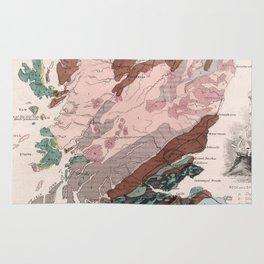 Vintage Geological Map of Scotland (1850) Rug