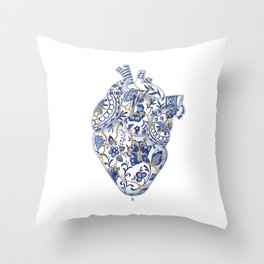 Broken heart - kintsugi Throw Pillow