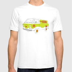 The Mystery Machine Mens Fitted Tee SMALL White