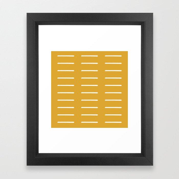 organic / yellow Framed Art Print