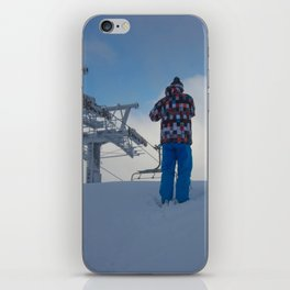 ski orange yellow iPhone Skin