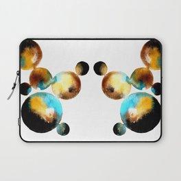 abstract watercolour circles Laptop Sleeve
