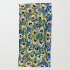 Peacock Freathers Beach Towel
