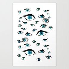 Girl Eyes Art Print