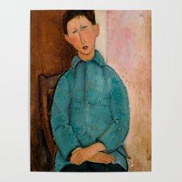 "Amedeo Modigliani ""Boy in a Blue Vest"" 1918 Poster"