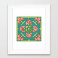 flora Framed Art Prints featuring Flora by nandita singh